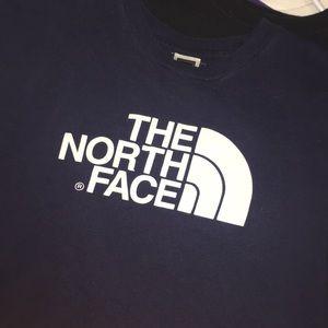 Blue north face shirt